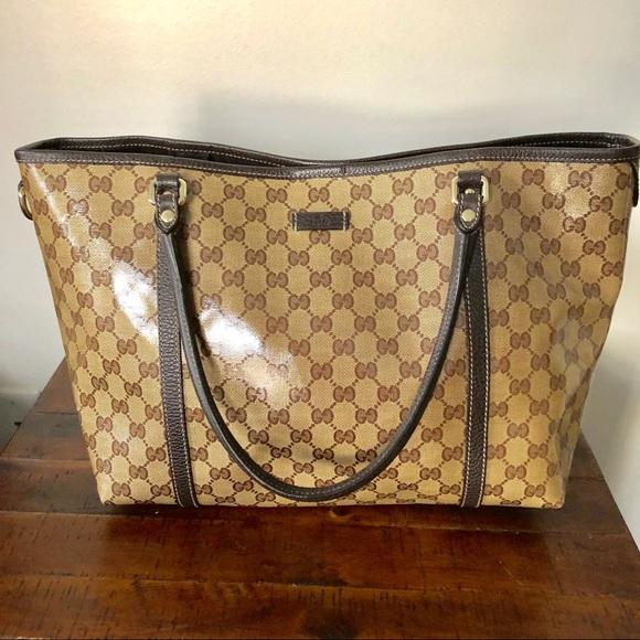 0d1bf435a52f Gucci Handbags - ⭐ Authentic Gucci Crystal Joy GG Medium Tote Bag